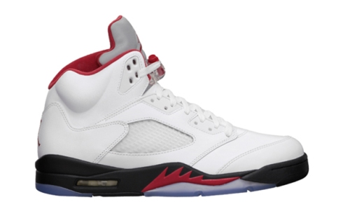 Air-Jordan-5-White-Fire-Red-Black